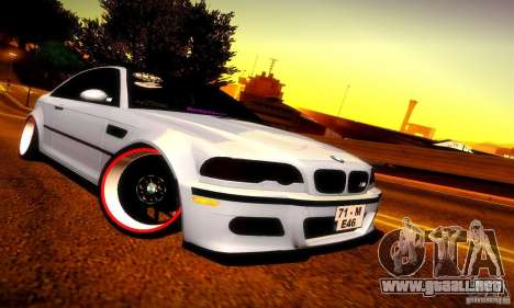 BMW M3 JDM Tuning para GTA San Andreas left