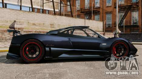 Pagani Zonda Cinque 2009 para GTA 4 left