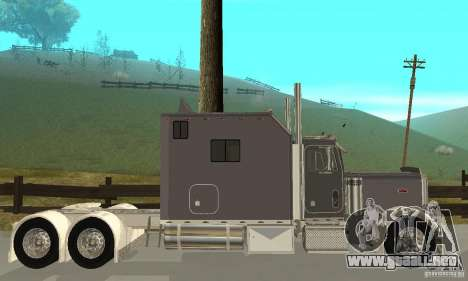 Peterbilt 379 Custom Legacy para GTA San Andreas vista posterior izquierda