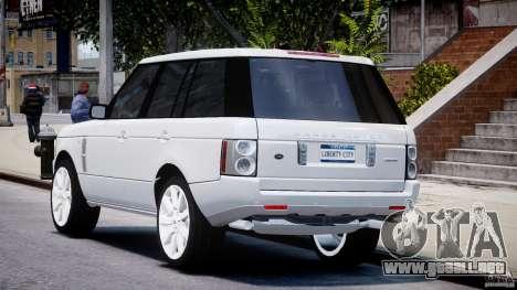 Range Rover Supercharged 2009 v2.0 para GTA 4 Vista posterior izquierda