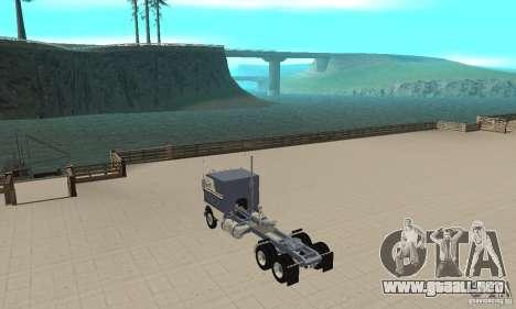 White Freightliner Extended Wheel Base para GTA San Andreas vista posterior izquierda