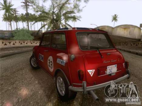 Austin Cooper S 1965 para la vista superior GTA San Andreas