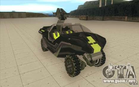 Halo Warthog para la visión correcta GTA San Andreas