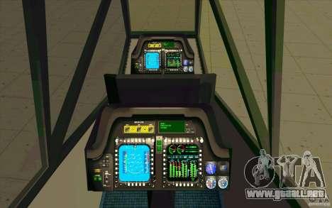 Sikorsky RAH-66 Comanche stealth green para visión interna GTA San Andreas