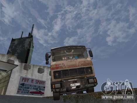 5551 MAZ koljós para GTA San Andreas vista hacia atrás