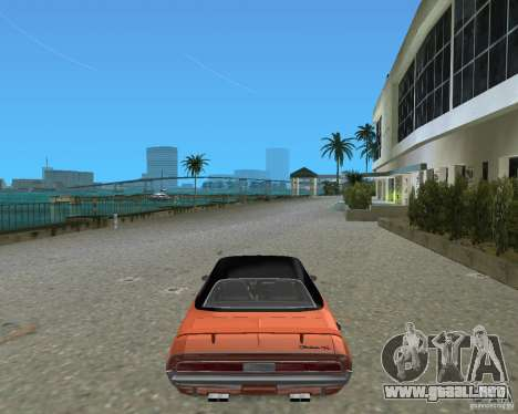 1970 Dodge Challenger R/T Hemi para GTA Vice City vista lateral izquierdo
