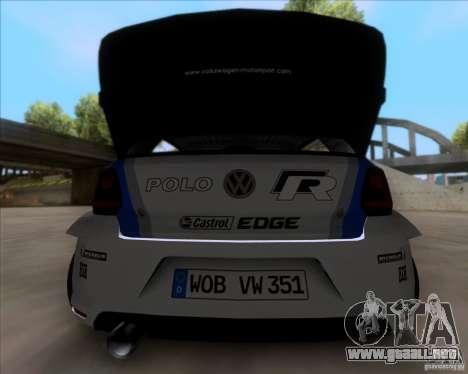 Volkswagen Polo WRC para la visión correcta GTA San Andreas