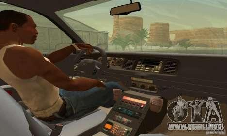 Ford Crown Victoria West Virginia Police para GTA San Andreas vista posterior izquierda