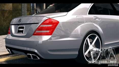 Mercedes-Benz S65 W221 AMG Vossen para GTA 4 visión correcta