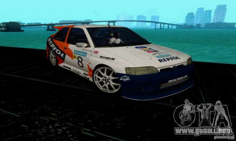 Ford Escort RS Cosworth para GTA San Andreas vista hacia atrás