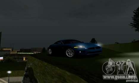 Jaguar XKRS para GTA San Andreas vista posterior izquierda