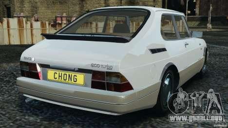 Saab 900 Coupe Turbo para GTA 4 Vista posterior izquierda