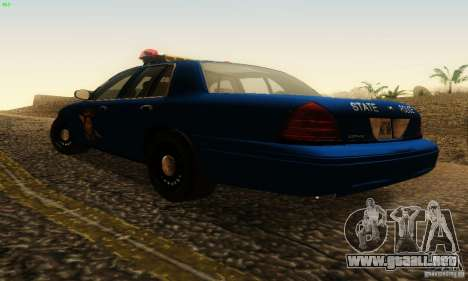 Ford Crown Victoria Michigan Police para GTA San Andreas left
