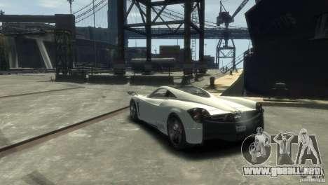 Pagani Huayra para GTA 4 visión correcta