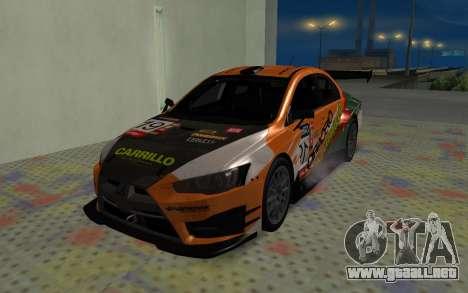 Mitsubishi Lancer Evolution X para la visión correcta GTA San Andreas