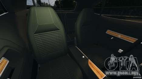 Dodge Challenger RT 1970 v2.0 para GTA 4 vista interior