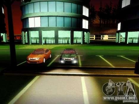 Acura TSX para visión interna GTA San Andreas