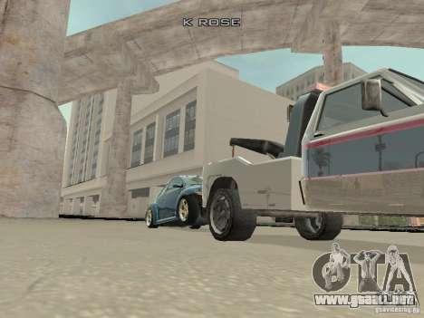 VW Beetle 2004 para visión interna GTA San Andreas