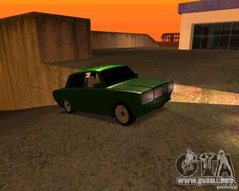 VAZ 2107 Hobo v. 1 para la visión correcta GTA San Andreas