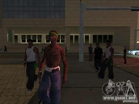 Reemplace todas las pieles Grove Street Families para GTA San Andreas quinta pantalla