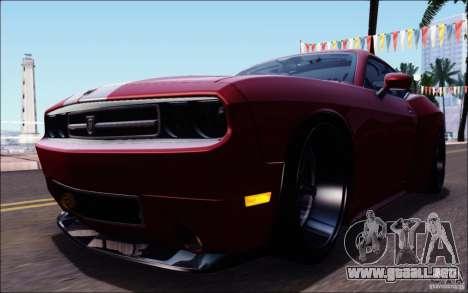 Dodge Challenger Rampage Customs para GTA San Andreas interior