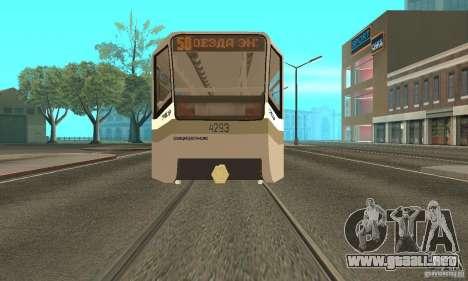 Tranvía 71-619 CT (KTM-19) para GTA San Andreas vista posterior izquierda