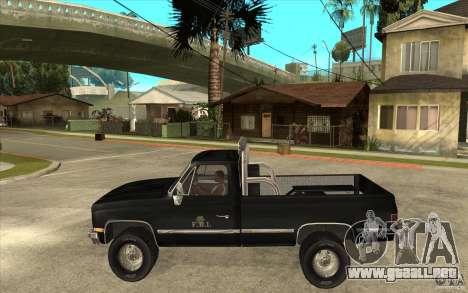 GMC Sierra 1986 FBI para GTA San Andreas left