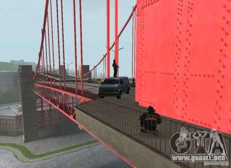 Un terrorista suicida en el puente para GTA San Andreas sexta pantalla