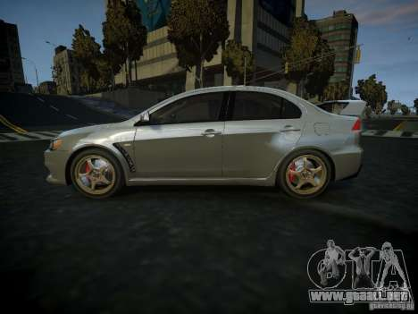 Mitsubishi Lancer Evolution X para GTA 4 left