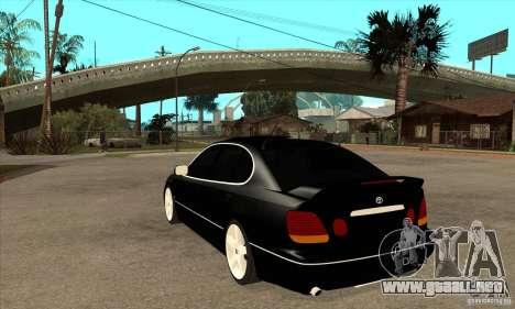 Año 2001 TOYOTA ARISTO para GTA San Andreas vista posterior izquierda