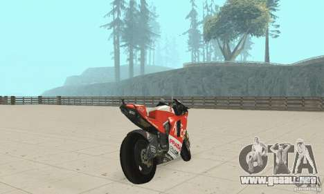Ducati Alice GP para GTA San Andreas left
