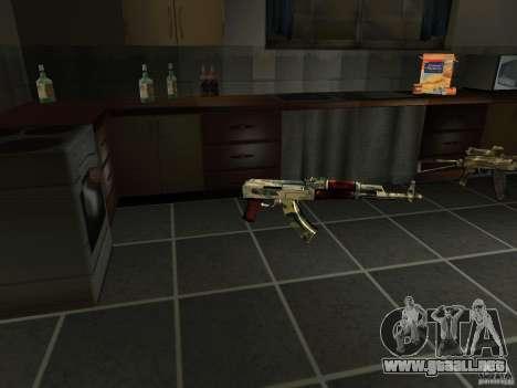 Pak versión doméstica armas 4 para GTA San Andreas quinta pantalla