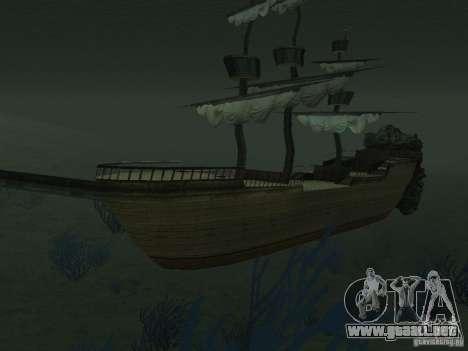 Barco pirata para GTA San Andreas séptima pantalla