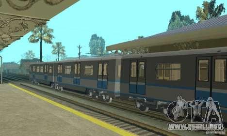 Tren Rusich 4 para la visión correcta GTA San Andreas