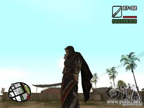Espada Ezio para GTA San Andreas segunda pantalla