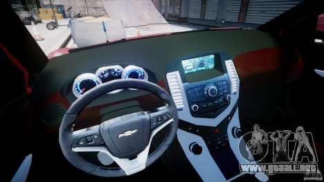 Chevrolet Cruze para GTA 4 vista hacia atrás