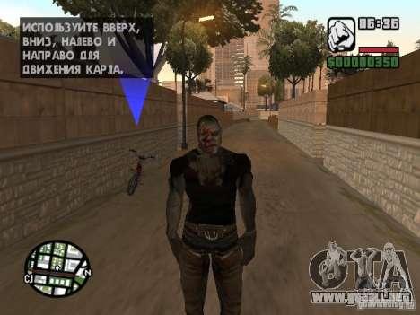 Zombe from Gothic para GTA San Andreas quinta pantalla