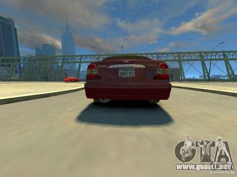 Daewoo Leganza CDX para GTA 4 Vista posterior izquierda