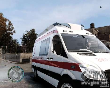Mercedes Sprinter Turkish Ambulance para GTA 4 left
