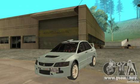 Mitsubishi Lancer Evolution IX para GTA San Andreas left