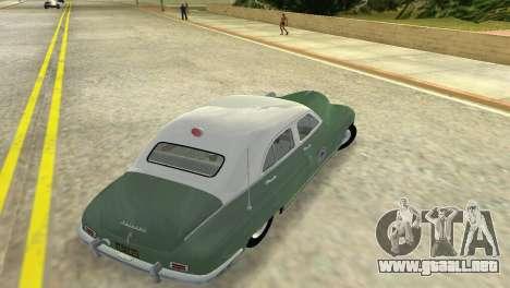 Packard Standard Eight Touring Sedan Police 1948 para GTA Vice City visión correcta