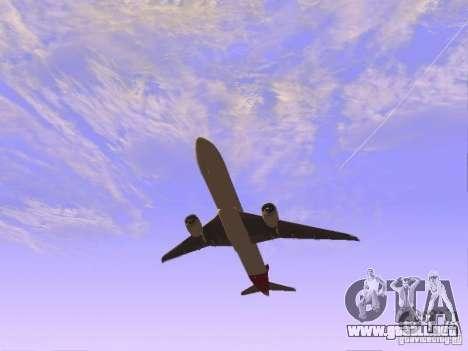 Boeing 787 Dreamliner Qantas para la visión correcta GTA San Andreas