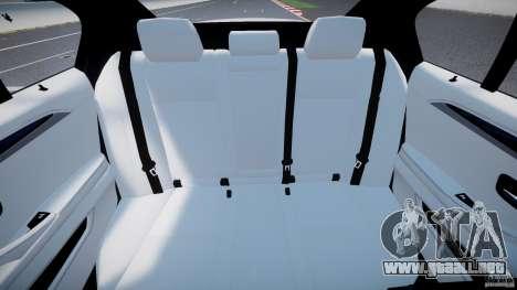 BMW M5 F10 2012 M Stripes para GTA 4 vista hacia atrás