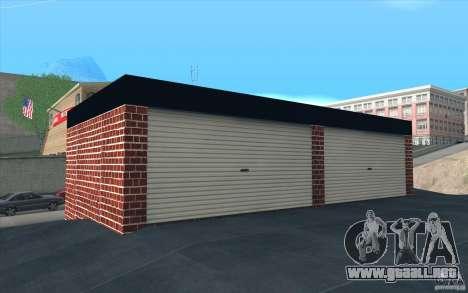 Nuevo garaje de Dorothy para GTA San Andreas sucesivamente de pantalla