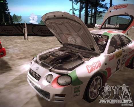 Toyota Celica ST-205 GT-Four Rally para la visión correcta GTA San Andreas