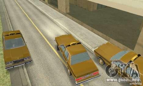 Dodge Diplomat 1985 Taxi para GTA San Andreas vista posterior izquierda
