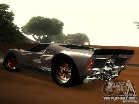 Ford GT40 1966 para la vista superior GTA San Andreas