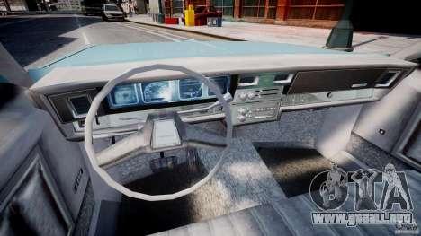 Chevrolet Impala 1983 [Final] para GTA 4 vista hacia atrás