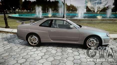 Nissan Skyline GT-R R34 2002 v1 para GTA 4 vista interior
