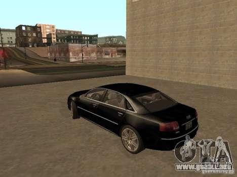 Audi A8 W12 S-Line para GTA San Andreas vista posterior izquierda